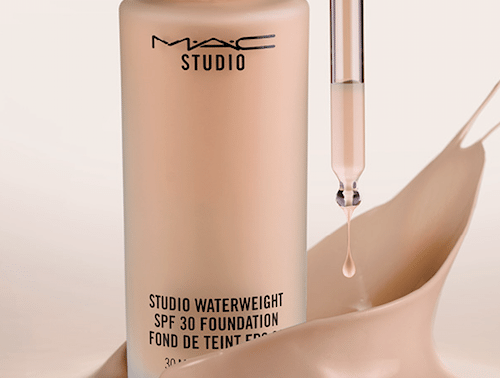 base maquillaje mac studio water weight